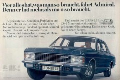 Werbung Opel Admiral (1969)