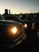 Autokino mit Volvo Amazon und zweimal Opel Olympia